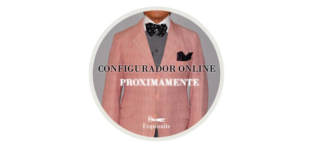 Próximamente disponible Configurador de Trajes Online Exquisuits