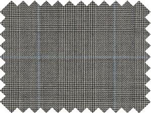 Cuadro de gales gris y raya azul