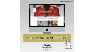 Plataforma de Trajes a medida Online Exquisuits