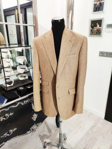 Chaqueta beige lana, seda y lino Holland & Sherry